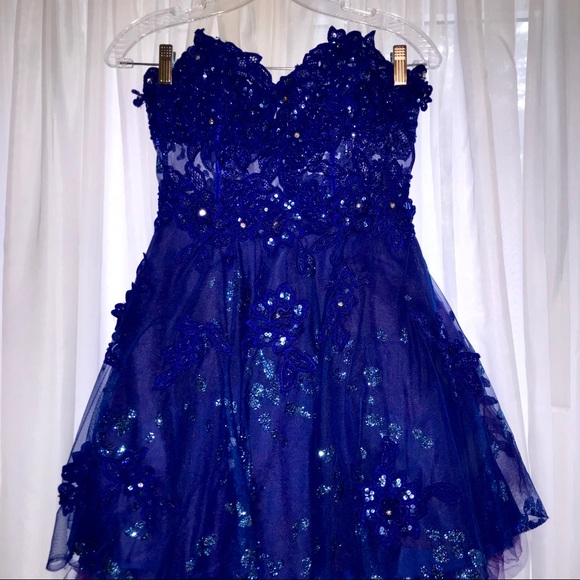 royal blue short homecoming dresses